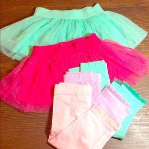 Kids korner tulle leggings and tulle skirt set